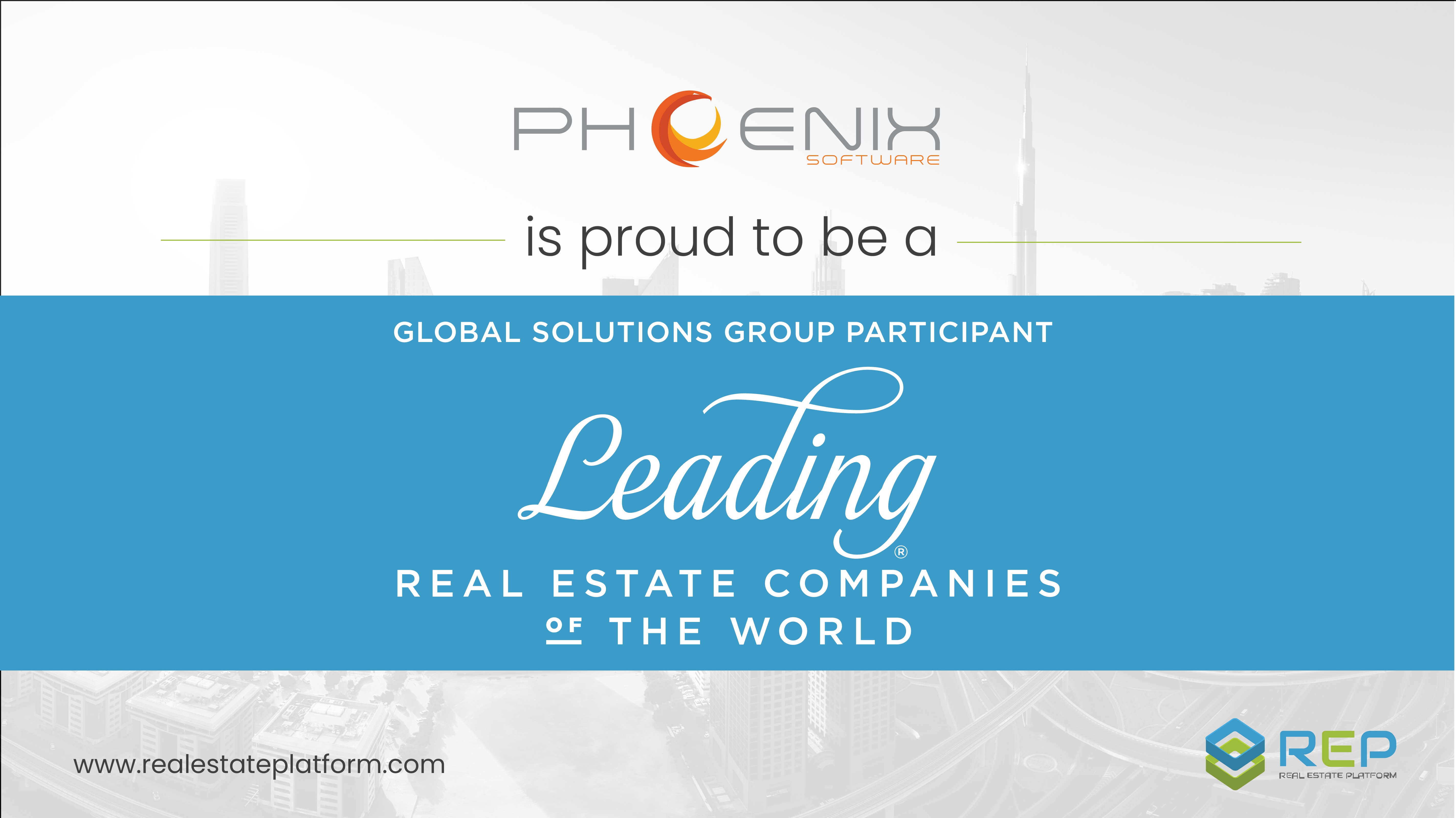 LeadingRE Selects Phoenix Software's REP to Participate in Global Solutions Group Program